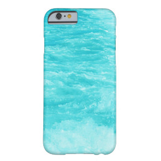 Turquoise Blue Sea Water with Splashes and Waves Barely There iPhone 6 Case