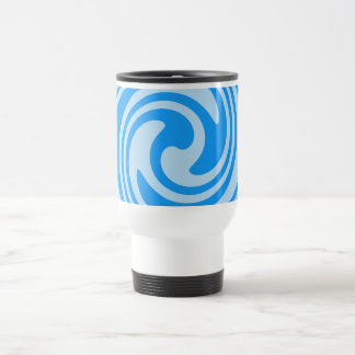 Turquoise Blue Swirls Nautical Inspired Travel Mug