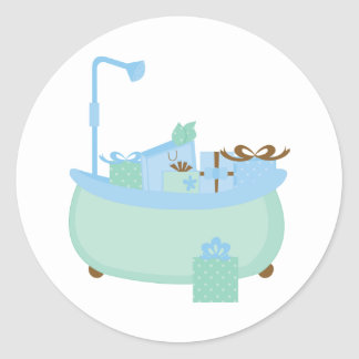 Turquoise & Blue Tub Stickers