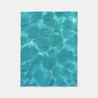Turquoise Blue Water Fleece Blanket