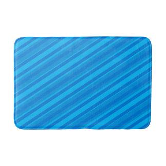 Turquoise Blues Stripes Bath Mat