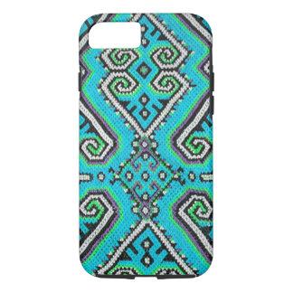 Turquoise Bohemian Geometric Design iPhone 7 Case