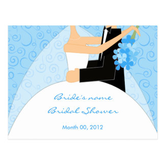 Turquoise Bridal Shower Advice Cards Postcard