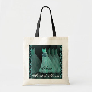 TURQUOISE Bridesmaid Dresses Cotton Tote Bag