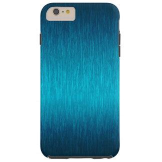 Turquoise Brushed Aluminum Look Tough iPhone 6 Plus Case