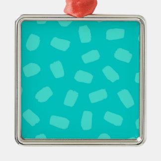 Turquoise Brushstrokes Christmas Ornament