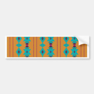 Turquoise Burnt Bumper Sticker