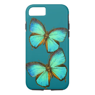 Turquoise Butterflies Wildlife iPhone 7 Case