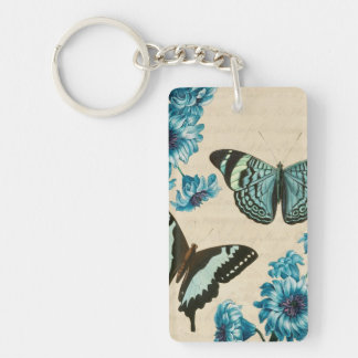 Turquoise butterfly keychain