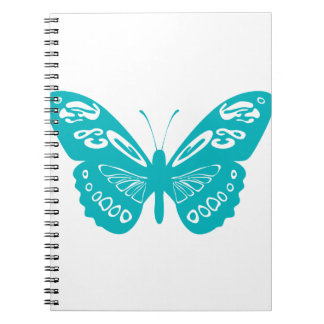 Turquoise Butterfly Notebook