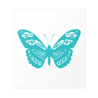Turquoise Butterfly Notepad