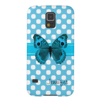 Turquoise Butterfly Samsung Nexus Phone Case