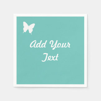Turquoise Butterfly Wedding or Party Napkin Paper Serviettes