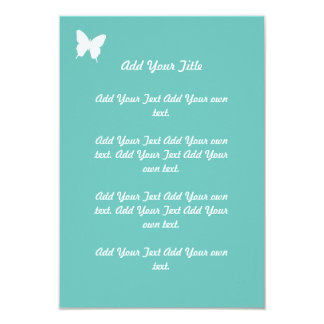 Turquoise Butterfly Wedding Stationary Card