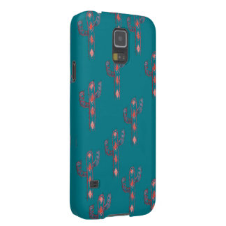 Turquoise Cactus Pattern Case For Galaxy S5