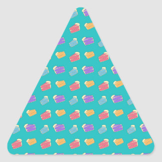 Turquoise cake pattern triangle stickers