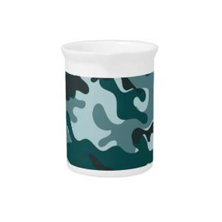 Turquoise Camouflage pattern Pitcher