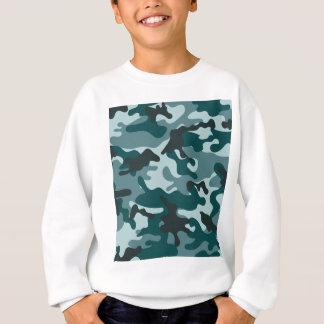 Turquoise Camouflage pattern Sweatshirt