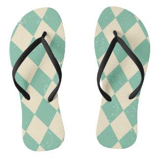 Turquoise carnival flip flops