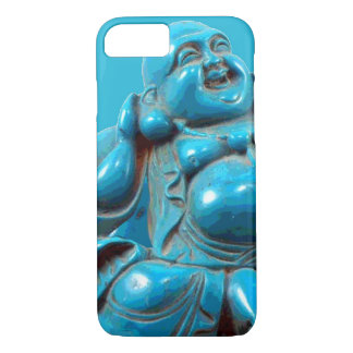 Turquoise Carved Happy Buddha Statue iPhone 7 case