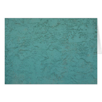 turquoise cement greeting card