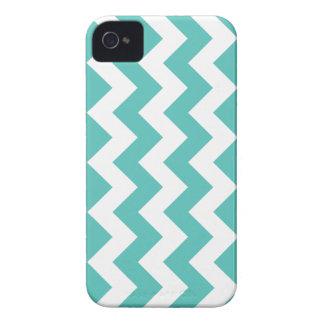 Turquoise Chevron Zigzag iPhone 4 Case