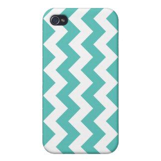Turquoise Chevron Zigzag iPhone 4 Cover