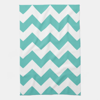 Turquoise Chevron Zigzag  Kitchen Towels