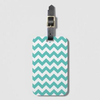 Turquoise Chevron Zigzag Luggage Tags