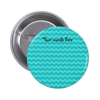 turquoise chevrons 6 cm round badge
