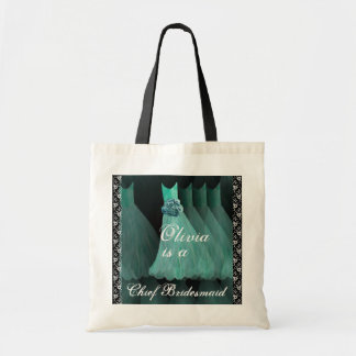 TURQUOISE Chief Bridesmaid Cotton Tote Bag