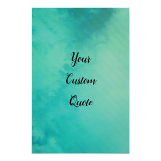 Turquoise Chilled Striped Personalised Quote Print