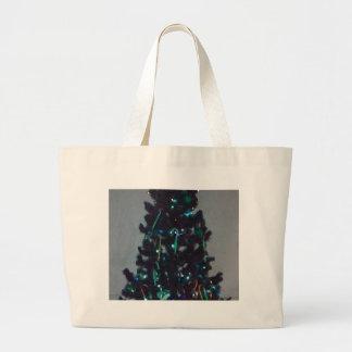 Turquoise Christmas Tree Holiday Decor Bag