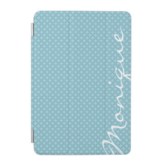 turquoise circles personalized by name iPad mini cover