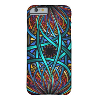 TURQUOISE CIRCUIT WIRES FRACTAL. BARELY THERE iPhone 6 CASE