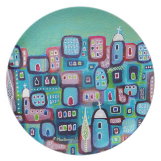 Turquoise City Plate