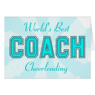 Turquoise Coach Greeting Card