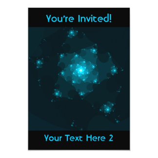 Turquoise Color Abstract Fractal. Card