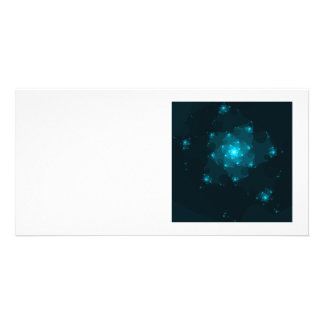 Turquoise Color Abstract Fractal Photo Greeting Card