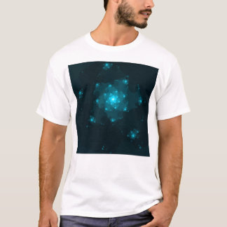 Turquoise Color Abstract Fractal. T-Shirt
