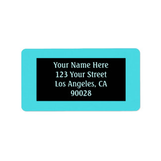 turquoise color label