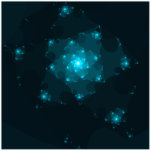 Turquoise Colour Abstract Fractal.