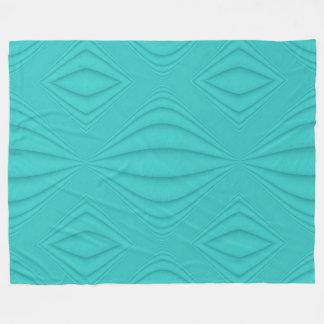 Turquoise Contour Fleece Blanket