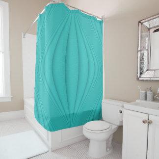 Turquoise Contour Shower Curtain