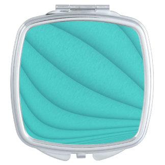 Turquoise Contours Vanity Mirrors