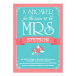 Turquoise Coral Future Mrs Whimsical Bridal Shower