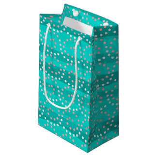 Turquoise & Coral Waves Gift Bag