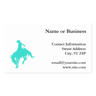 Turquoise Cowboy Pack Of Standard Business Cards
