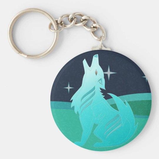 Turquoise Coyote Keychain