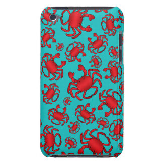 Turquoise crab pattern barely there iPod case